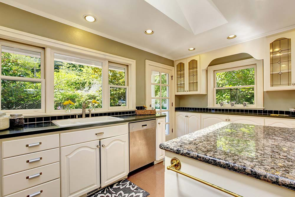 Newly remodeled kitchen seen while preforming home inspection services